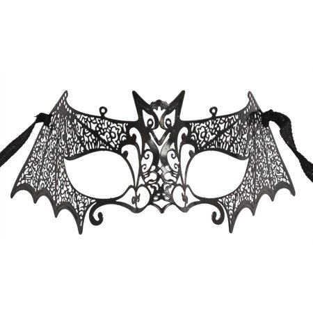 METAL BLACK BAT MASK - Masquerade Masks - LASER CUT ()