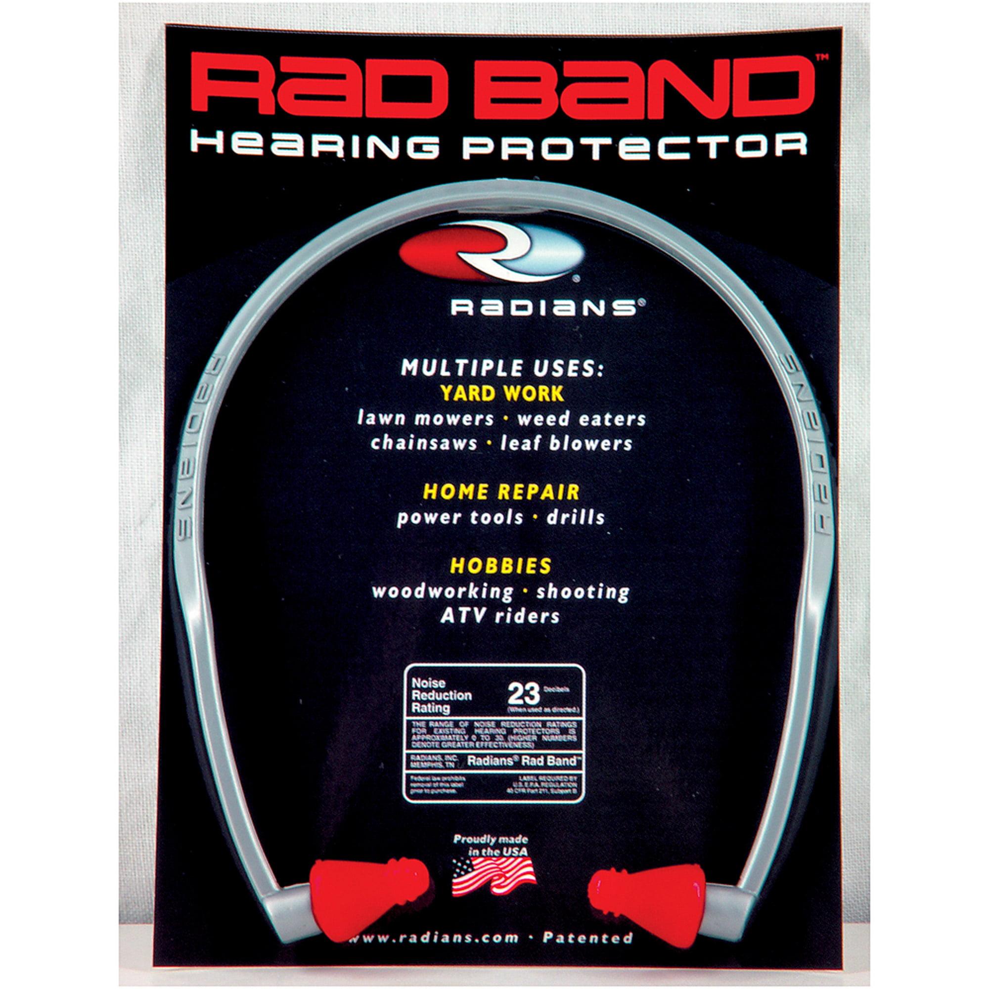 Radians Rad Band Ear Plug, Red, NRR 23