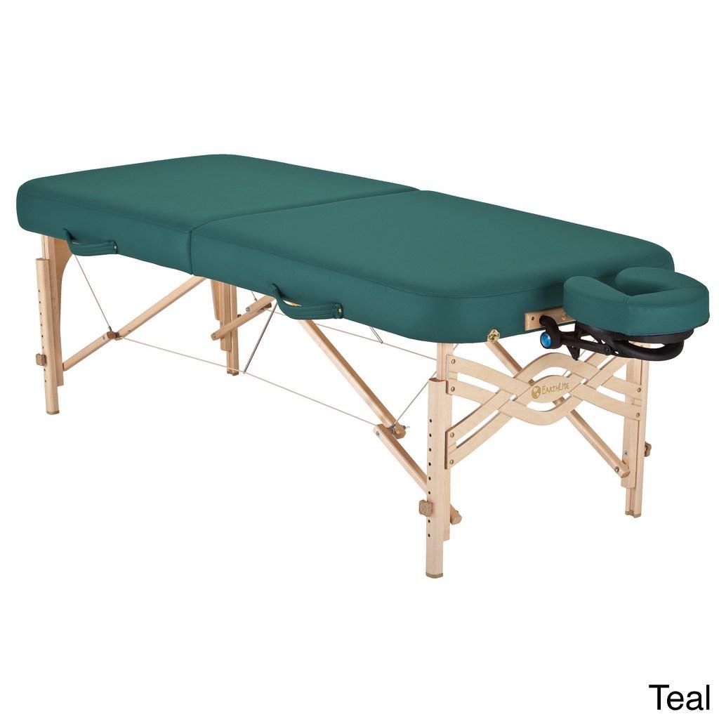 Earthlite Massage Tables Earthlite Spirit Half Reiki / Half Standard Panel 32-inch Portable Massage Table Package with Flex-Rest