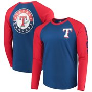 Texas Rangers New Era Raglan Long Sleeve T-Shirt - Royal/Red
