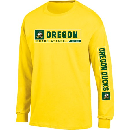 Men's Russell Athletic Yellow Oregon Ducks Team Long Sleeve T-Shirt