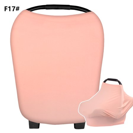 New Multi-Use Stretchy Infinity Scarf Baby Car Seat Cover Nursing Cover Breastfeeding Shopping Cart Cover High Chair Cover(Pink) Material:95% cotton+5% spandexColor:As pictures?4 color can choose?Black+White/Grey+White/Khaki+White/Navy+WhiteSize:33*68*70cmPackage includes: 1 pc shade clothProducts descriptionThe car seat cover will make your life easy. Feel Comfortable while breastfeeding/Nursing in public wherever you are. This carseat canopy will protect your baby from sun, wind, bright light and germs while traveling or shopping.Car seat covers are easy to use, easy to put on and take off of your car seat, easy to see and access your baby while nursing / breastfeeding.4-in-1 Cover. Baby Car Seat Cover / CarSeat Canopy. Privacy Nursing Cover / Infinity Nursing Scarf. Shopping Cart Trolley Cover / Grocery Cart Trolley Cover. High Chair Cover. Swaddle Cloth Wrap. Stretchy fabric fits most car seats, shopping carts, and nursing mothers. This is the best multipurpose cover for moms on the go! Covers are made for all season use and provide protection against the elements. Great for both nursing and as a car seat cover.This is a best gift to give on any occasion, be it mothers day, fathers day, labor day, Christmas, Easter, baby showers, birthday, Halloween, Thanks giving, boxing day, Black Friday or Cyber Monday, your loved ones are going to love it.