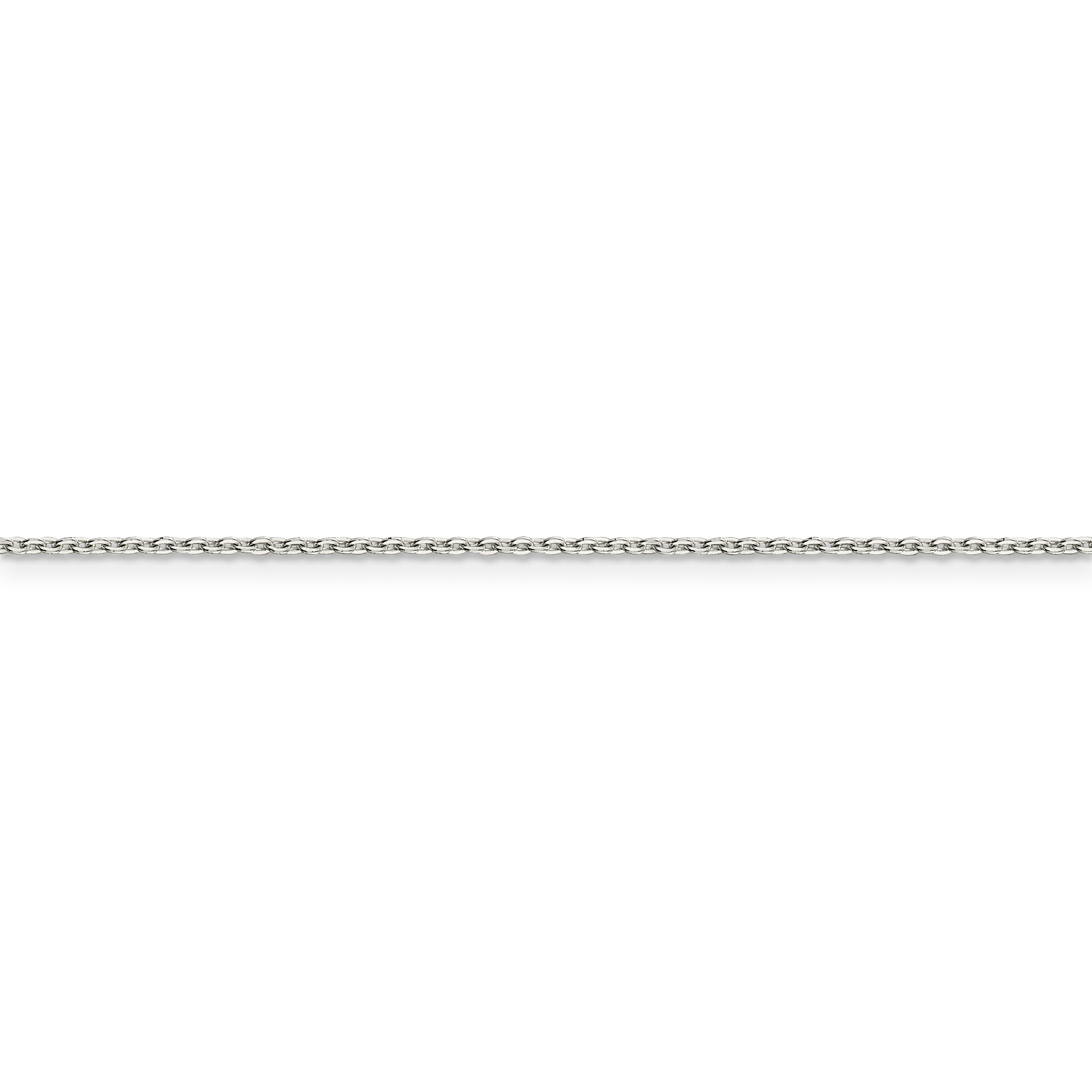 925 Sterling Silver 1mm Flat Link Cable Chain Necklace 24 Inch Pendant Charm Fine Jewelry Gifts For Women For Her - image 3 of 5