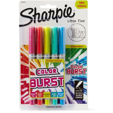Sharpie® Color Burst Set of 5, Ultra Fine Tip