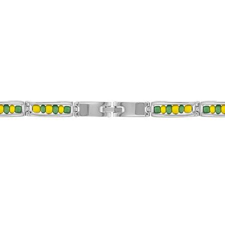 "Stainless Steel Link Wristband Inside Babalawo Unisex Santeria Orula Bracelet 8"" - image 1 de 4"