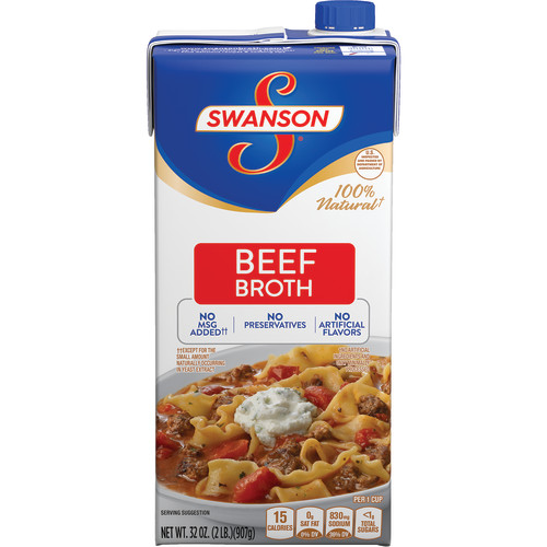 Swanson Beef Broth, 32 oz. Carton