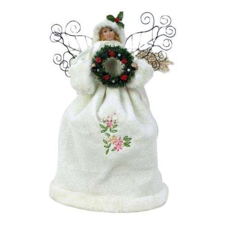 Christmas Ltd 16 White Fabric Angel Tree Topper With