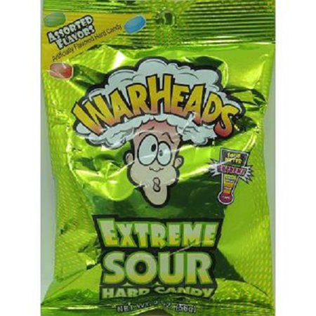 Product Of Warheads, Extreme Sour Hard Candy, Count 12 (2 oz) - Sugar Candy / Grab Varieties & Flavors