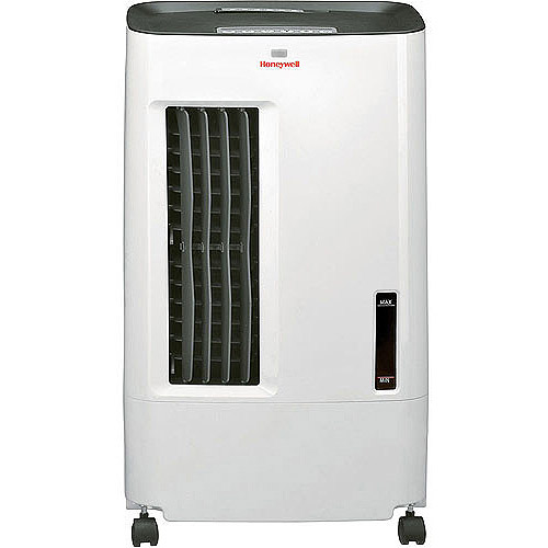 Honeywell CSO71AE 176 CFM 100 sq. ft. Indoor Portable Evaporative Air Cooler (Swamp Cooler) with Remote Control, White/Gray