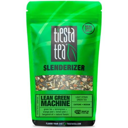 (2 Pack) Tiesta Tea Slenderizer, Lean Green Machine, Loose Leaf Green Tea Blend, Medium Caffeine, 1.9 Ounce Pouch