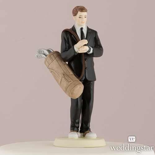 Weddingstar 7099 Golf Fanatic Groom Mix & Match Cake Topper Caucasian Groom, Groom Only