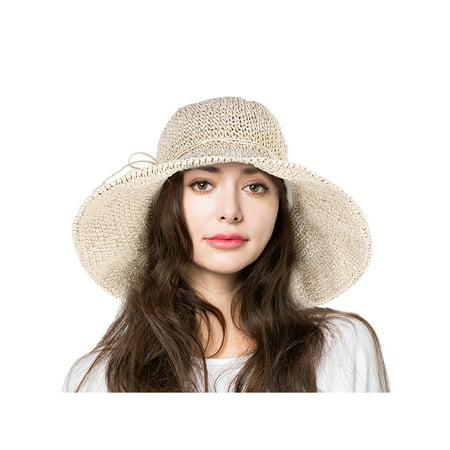7999c49e07f Vbiger Womens UPF50 Foldable Summer Sun Beach Straw Hats accessories Wide  Brim
