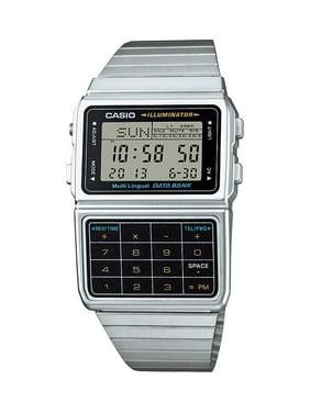 Casio Men's Stainless Steel Vintage Calculator Watch