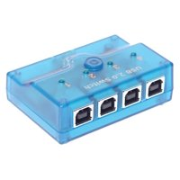 Coolgear For Vista and Windows 7 Mini 4-Port USB 2.0 A/B/C/D Manual Switch with 6ft. Cables