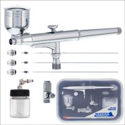 PRO 3 Tip Gravity & Suction Side-Feed DUAL-ACTION AIRBRUSH SET KIT Auto Hobby