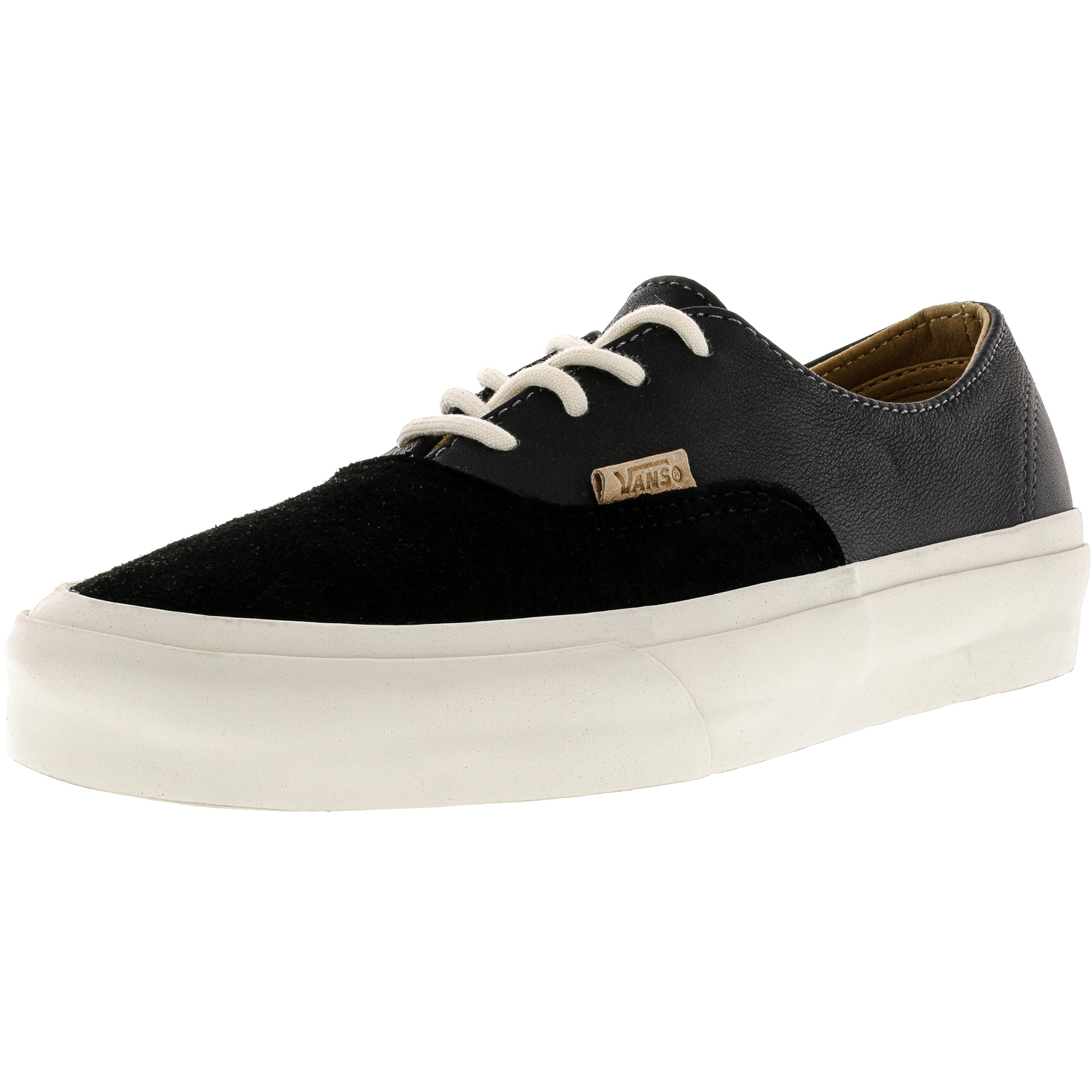 Vans Authentic Decon Pig Suede And Leather Black Ankle-High Skateboarding Shoe - 7M / 5.5M