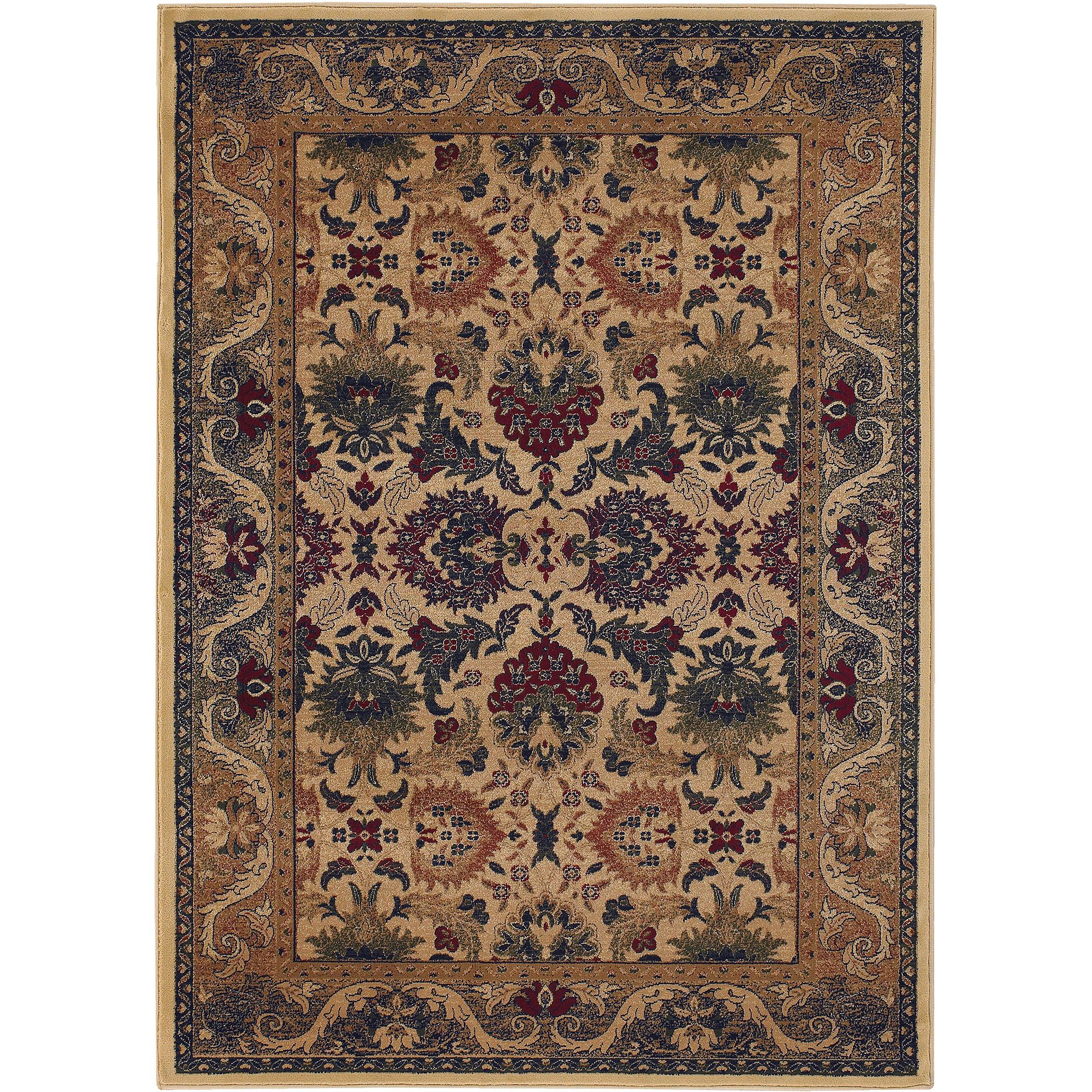 Couristan Anatolia Royal Plume Rug, Cream/Plum