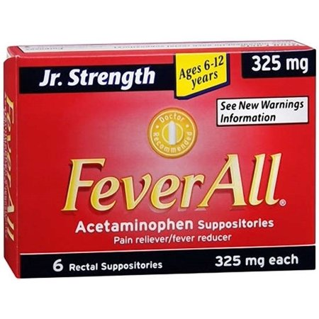 Feverall Acetaminophen Suppositories Children's Ages 6-12 Years - 6