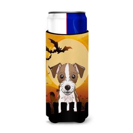 Halloween Jack Russell Terrier Ultra Beverage Insulators for slim cans BB1760MUK - Chris Russell Halloween