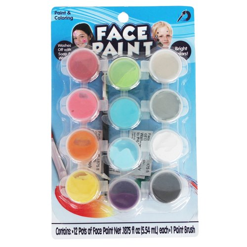 KIDS CRAFT Face Paint Pots, 12pk