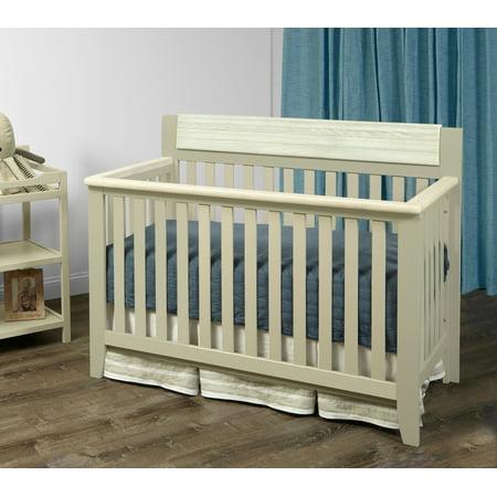 Suite Bebe Hayes 4-in-1 Convertible Crib Gray/Weathered Granite (Cunas De Bebe)