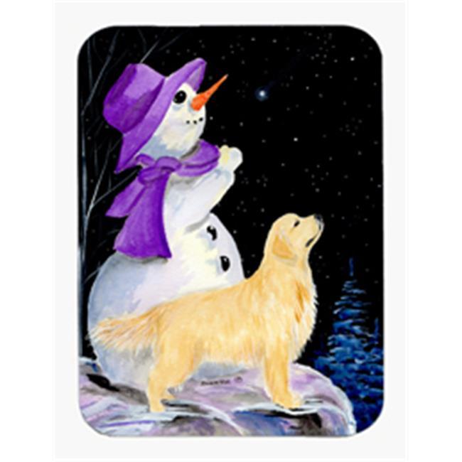 Snowman with Golden Retriever Mouse Pad & Hot Pad & Trivet - image 1 de 1