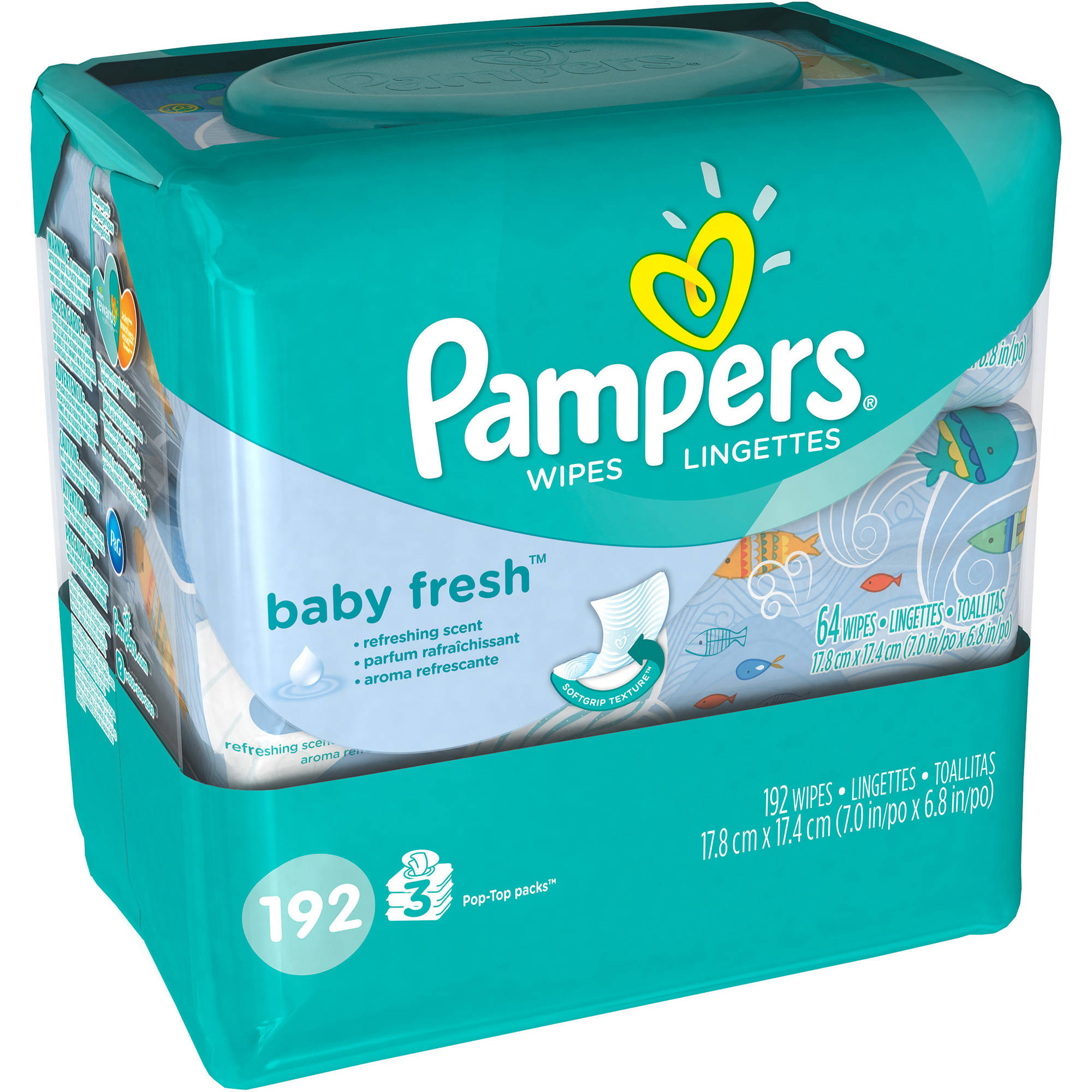 Pampers Baby Fresh Wipes, 192 Wipes