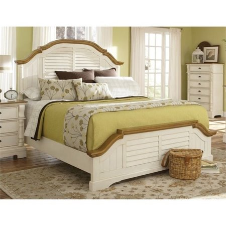 Bowery Hill California King Panel Bed In Oak And Buttermilk