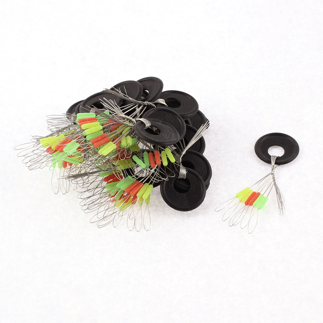 Unique Bargains 6 in 1 Rubber Multicolor Fishing Floaters Bobbers 45mm Long 25 Pcs by