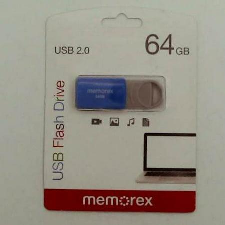 Memorex 64GB Flash Drive USB 2.0 - Blue (32020006421)