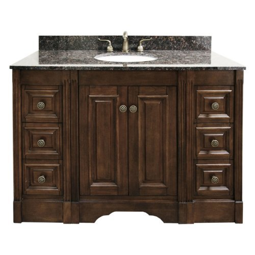 Legion Furniture Norfolk 49-in. Single Bathroom Vanity - Dark Walnut