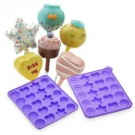 cake pops shapes instant silicone baking pan set. Black Bedroom Furniture Sets. Home Design Ideas