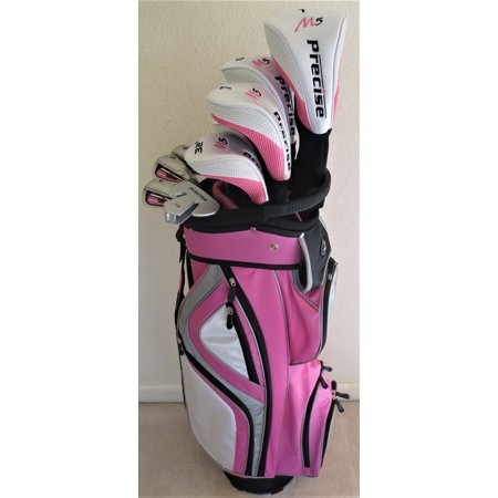Ladies Complete Golf Set Driver, 2 Fairway Woods, 2 Hybrid, Irons, Sand Wedge Putter, Clubs and Cart Bag Graphite Womens Right (2 Iron Hybrid)