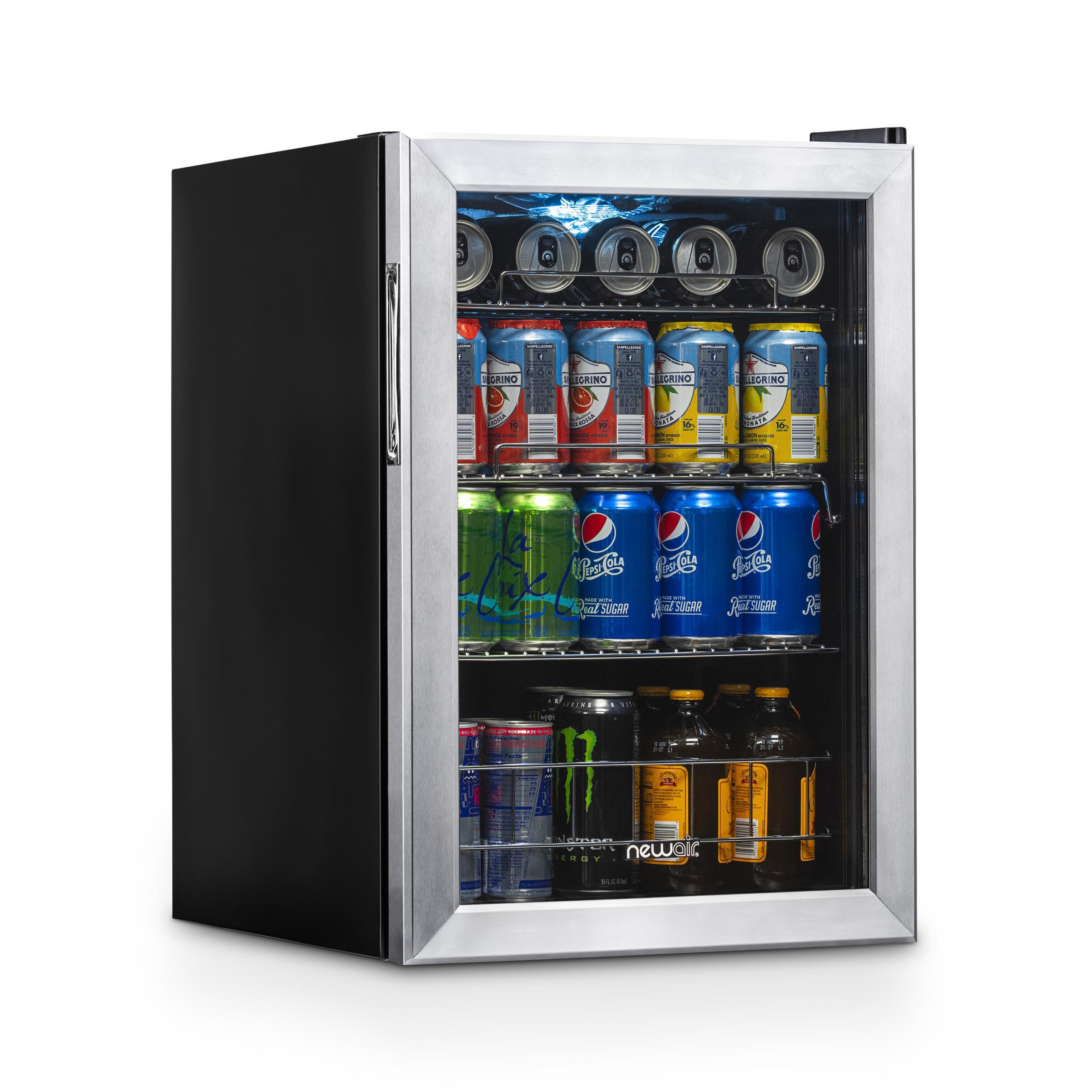 Newair Beverage Refrigerator 84 Can Capacity Center Soda Beer Cooler Ab 850 Stainless Steel Walmart Com Walmart Com