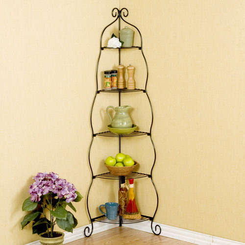 Wildon Home  Corner Baker's Rack
