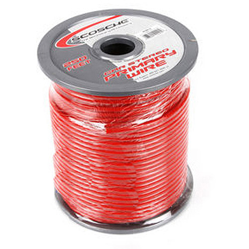 Scosche PW10RED-250 - 10 guage Red 250ft Roll