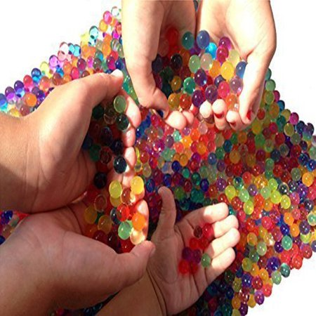 Water Beads, 2 oz pack (4,000) Sooper Beads Crystal Soil Water Bead Gel [Rainbow Mix] For Orbeez Refill, Kids Tactile Sensory Experience, Wedding Centerpiece Vase Filler, Plant decoration - Water Beads Wholesale