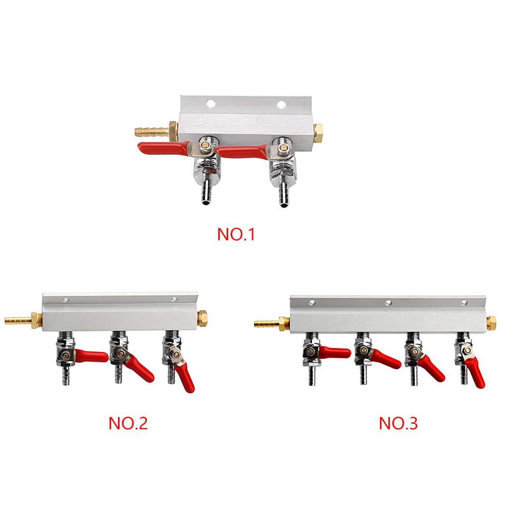 "Beer Brewing Pressure Reducer 1//4/"" Manifold Distribution CO2 Splitter Muti-Way"