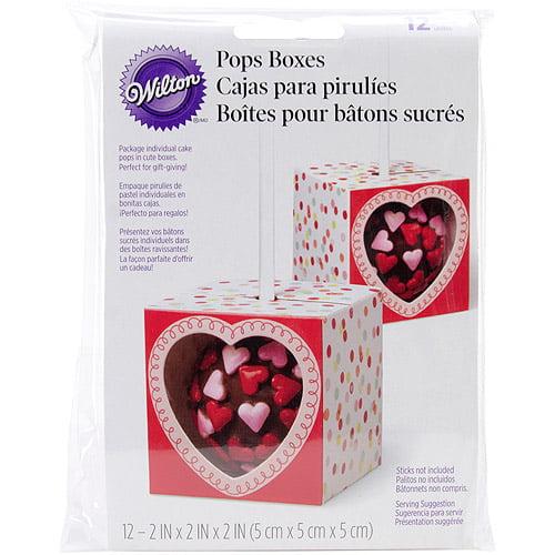 "Wilton 2"" Treat Pop Gift Box, Do Something Sweet 12 ct. 415-0577"