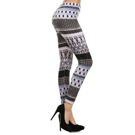 Mid-Waist Yoga Leggings Tummy Control Workout Running Slim Stretchy Activewear Pants - Diamonds
