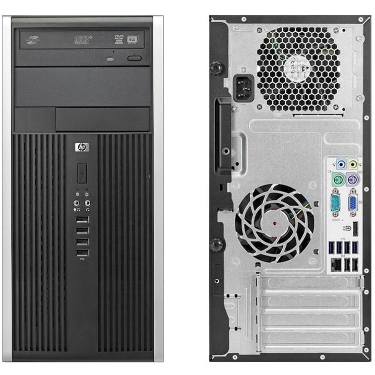 Refurbished HP Compaq Pro 6300 Microtower Desktop Computer Intel i3 Dual  Core 4GB 250GB W10H