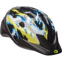 Bell Rally Boys Bike Helmet, Black/Yellow Lighting, Child 5+ (52-56cm)
