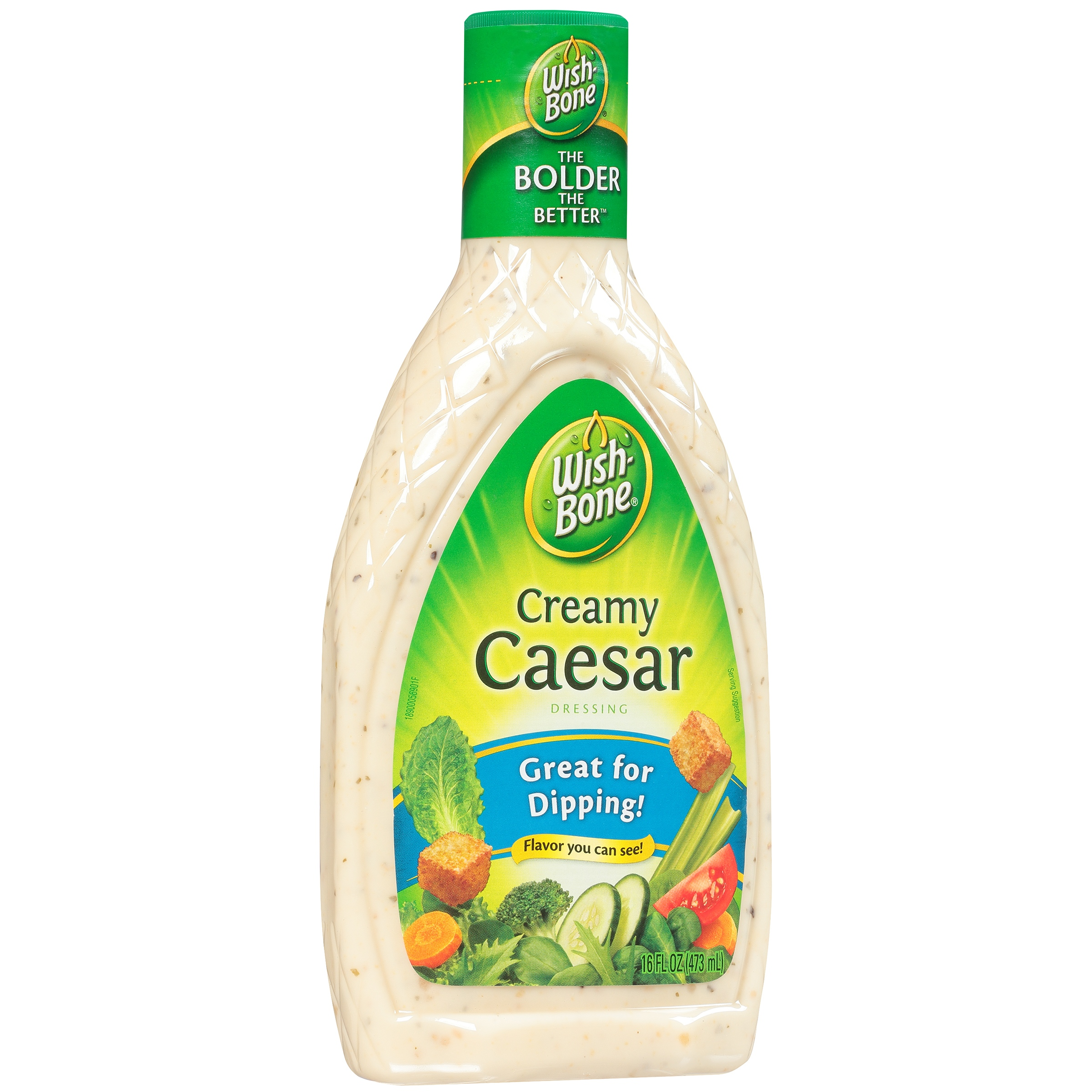 Wish-Bone Creamy Caesar Dressing 16 fl. oz. Plastic Bottle