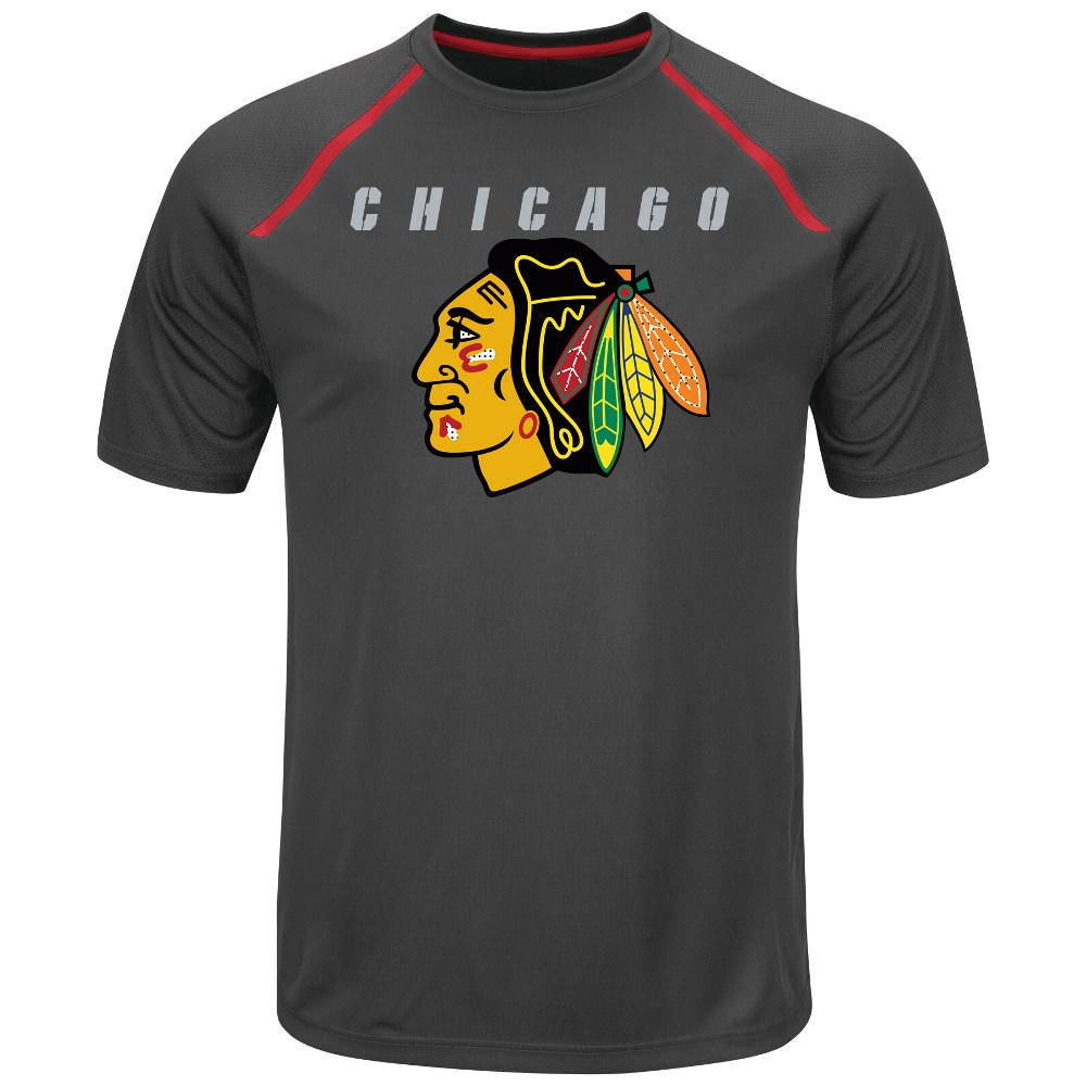 "Chicago Blackhawks Majestic NHL ""Toe Drag"" Men's Cool Base Shirt by Majestic"