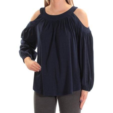Ralph Lauren Womens Cutout-Shoulder Jersey Basic T-Shirt