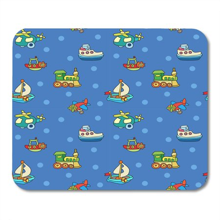 Childrens Mouse - KDAGR Cart Blue Boat with Colorful Childrens Toys Orange Boy Cheerful Mousepad Mouse Pad Mouse Mat 9x10 inch