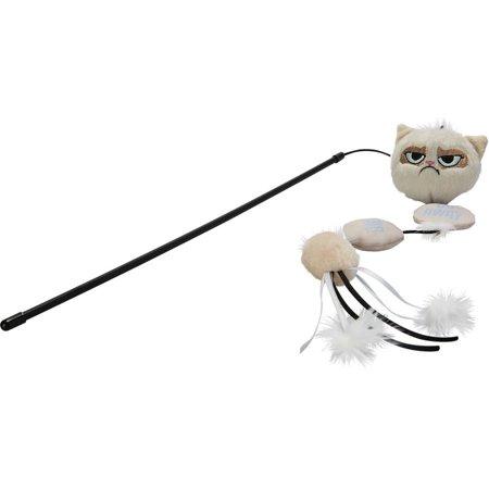 Jakks pacific grumpy cat annoying plush cat wand cat toy for Cat wand toys