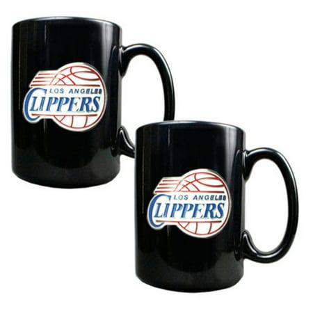 Great American NBA Black Logo Ceramic Mug Set](Lakers Clippers Halloween)