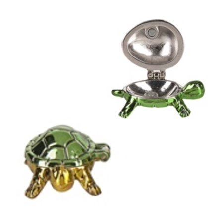Green Turtle Charm (If I Was a Turtle Lucky Little Wish Box Charm: Green Shell - By Ganz)