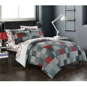 American Original Geo Blocks Bed in a Bag Bedding Comforter Set, Twin